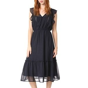 BB Dakota Carra Polka Dot Printed Dress M